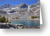 Mammoth. Greeting Cards - Two Treasure Lakes Greeting Card by Kelley King