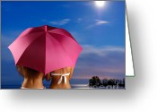 Swimsuits Greeting Cards - Two Women Relaxing on a Shore Greeting Card by Oleksiy Maksymenko