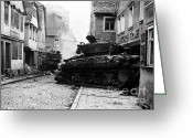 Featured Greeting Cards - Two Wwii Tanks Greeting Card by Photo Researchers