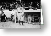 Baseball  Digital Art Greeting Cards - Ty Cobb Greeting Card by Bill Cannon