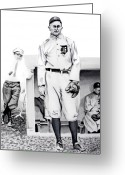 Ty Cobb Greeting Cards - Ty Cobb Greeting Card by Ferrel Cordle