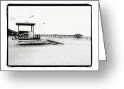 Black Kites Greeting Cards - Tybee Island Lifeguard Stand Greeting Card by Debbie Pippin