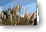 Sea Oats Digital Art Greeting Cards - Tybee Sea Oats Greeting Card by Rhodes Rumsey