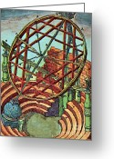 Armillary Greeting Cards - Tycho Brahes Equatorial Armillary Greeting Card by Science Source