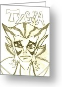 Thundercats Greeting Cards - Tygra Greeting Card by Shayna  Keach