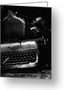 Olivetti Greeting Cards - Typewriter Greeting Card by Eric Tadsen