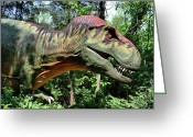 Theropod Greeting Cards - Tyrannosaurus Rex  T. Rex Greeting Card by Kristin Elmquist
