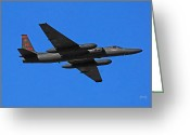 U2 Photo Greeting Cards - U-2 flyover 3394 Greeting Card by David Mosby