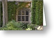 Michigan Greeting Cards - U of M Halls of Ivy Greeting Card by Richard Gregurich