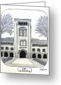 College Buildings Images Greeting Cards - U S C Greeting Card by Frederic Kohli