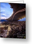 U2 Photo Greeting Cards - U2 Athens 2010 Greeting Card by George  Saitas