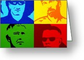 The Edge Greeting Cards - U2 Greeting Card by John  Nolan