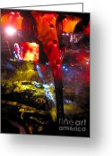 U2 Photo Greeting Cards - U2 Live Athens Greeting Card by George  Saitas
