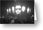 U2 Photo Greeting Cards - U2 Tampa Greeting Card by WaLdEmAr BoRrErO