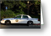 College Campus Greeting Cards - UC Berkeley Campus Police Car  . 7D10178 Greeting Card by Wingsdomain Art and Photography