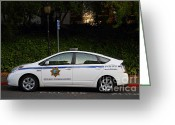College Campus Greeting Cards - UC Berkeley Campus Police Car  . 7D10181 Greeting Card by Wingsdomain Art and Photography