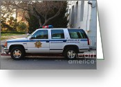 College Campus Greeting Cards - UC Berkeley Campus Police SUV  . 7D10182 Greeting Card by Wingsdomain Art and Photography