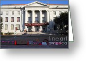 Occupy Photo Greeting Cards - UC Berkeley . Sproul Hall . Sproul Plaza . Occupy UC Berkeley . 7D10017 Greeting Card by Wingsdomain Art and Photography