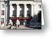 Occupy Photo Greeting Cards - UC Berkeley . Sproul Hall . Sproul Plaza . Occupy UC Berkeley . 7D9991 Greeting Card by Wingsdomain Art and Photography