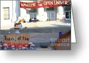 Cal Bear Greeting Cards - UC Berkeley . Sproul Hall . Sproul Plaza . Occupy UC Berkeley . The Is Just The Beginning . 7D10018 Greeting Card by Wingsdomain Art and Photography