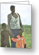 Uganda Greeting Cards - Uganda Family Greeting Card by Reb Frost