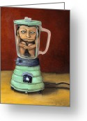 Doll Painting Greeting Cards - Uh Oh Greeting Card by Leah Saulnier The Painting Maniac