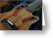 Hawaiian Art Digital Art Greeting Cards - Ukulele Greeting Card by Sharon Mau