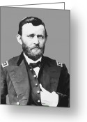 Products Greeting Cards - Ulysses S Grant Greeting Card by War Is Hell Store