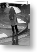City And Colour Greeting Cards - Umbrella Day Greeting Card by Aidan Moran