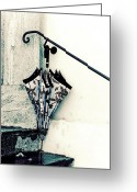 Railings Greeting Cards - Umbrella Greeting Card by Joana Kruse