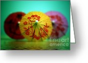 Flood Greeting Cards - Umbrellas Greeting Card by Kristin Kreet