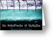 Exhibition Drawings Greeting Cards - Un NauFraGo A VeNeZia Greeting Card by Arte Venezia