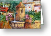 Ricordo Painting Greeting Cards - Un sorso di vita  Greeting Card by Carla Colombo
