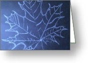 3.14 Drawings Greeting Cards - Uncertaintys Leaf Greeting Card by Jason Padgett