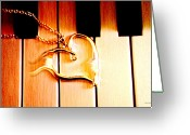 Linda-sannuti Art Greeting Cards - Unchained Melody Greeting Card by Linda Sannuti