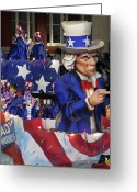 Highsmith Greeting Cards - Uncle Sam Float at Mardi Gras - New Orleans Louisiana  Greeting Card by Carol M Highsmith