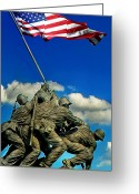 "\""old Glory\\\"" Greeting Cards - Uncommon Valor Greeting Card by Don Lovett"