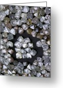 Valuable Greeting Cards - Uncut Diamonds Greeting Card by Kaj R. Svensson