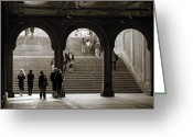 Staircase Greeting Cards - Under Bethesda Terrace Greeting Card by RicardMN Photography
