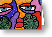 Multi Color Greeting Cards - Under Cover Greeting Card by Steven Scott