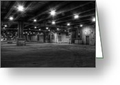 Underground Greeting Cards - under lower Wacker Greeting Card by Scott Norris