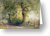 1823 Greeting Cards - Under the Beeches Greeting Card by John Steeple