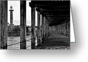 Count Dracula Greeting Cards - Under the Boardwalk Greeting Card by Gary Finnigan