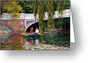 Roelof Rossouw Greeting Cards - Under The Bow Bridge Central Park Greeting Card by Roelof Rossouw