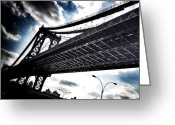 Featured Greeting Cards - Under The Bridge Greeting Card by Christopher Leon