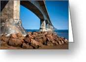 Concrete Greeting Cards - Under the Bridge Greeting Card by Matt Dobson