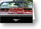 Automobile Hood Greeting Cards - Under the hood Greeting Card by David Lee Thompson