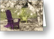 Shade Greeting Cards - Under The Magnolia Tree Greeting Card by Tom Mc Nemar