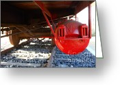 Old Caboose Greeting Cards - Under The Old Western Pacific Caboose Train . 7D10722 Greeting Card by Wingsdomain Art and Photography