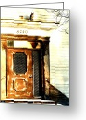 Old Doors Greeting Cards - Under the Owls Eyes Greeting Card by Emily Stauring